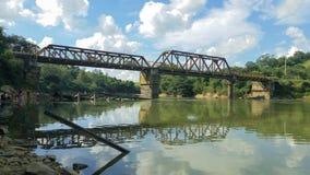 Railway Bridge. In Ribeirão Vermelho MG Brasil stock photography