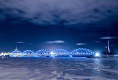 Railway Bridge, Riga, Latvia Stock Image