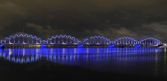 Railway bridge in Riga stock photos