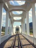 Railway bridge river at Lampang, Thailand. Stock Photography