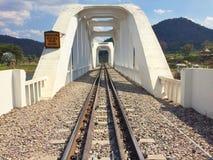 Railway bridge river at Lampang, Thailand. Royalty Free Stock Photos