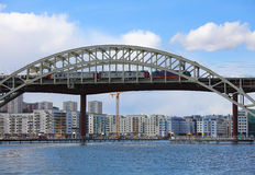 Railway Bridge in Stockholm Stock Photography