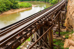 Railway Bridge tham krasae. Stock Photo