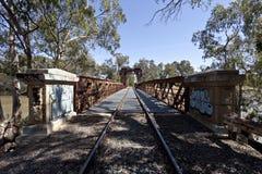 Railway Bridge at Tocumwal Royalty Free Stock Photos