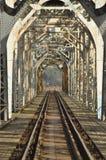 Railway bridge. Torah, steel construction. Stock Images