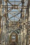 Railway bridge. Torah, steel construction. Royalty Free Stock Photography