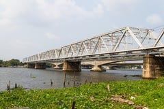 Railway bridge trusses Royalty Free Stock Photography
