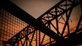 Railway bridge. Under the darkening sky Stock Photography