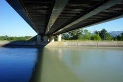 Railway bridge. Under the railway bridge in France Royalty Free Stock Photography