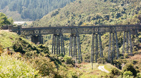 Railway bridge up Taieri Gorge New Zealand Stock Images