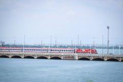 Railway bridge in Venice Royalty Free Stock Image