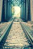 Railway bridge. Vintage of railway bridge Stock Photo