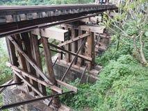 Railway bridge train vintage wood royalty free stock photo