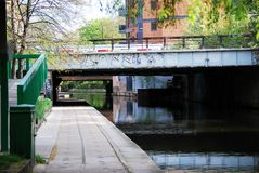 Railway Bridges over the Regent's Canal, London Stock Photography