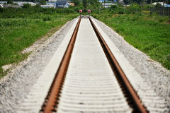 Railway buffer stop Royalty Free Stock Photography