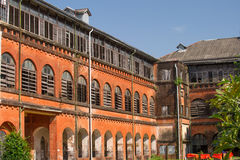 Railway building conservation project in Yangon, Myanmar Royalty Free Stock Photos