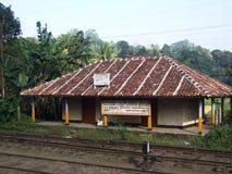 Railway building at Peradeniya station Stock Photos