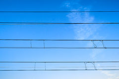Railway cables Royalty Free Stock Photography