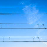 Railway cables Stock Images