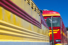 Railway car with diesel Stock Photo