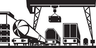 Railway cargo station Stock Photos
