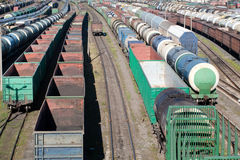 Railway cargo trains Royalty Free Stock Photography
