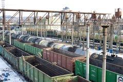 Railway cargo transportation Royalty Free Stock Photo