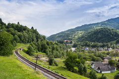 Railway in the Carpathians Stock Image