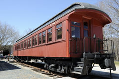 Railway Carriage. Vintage railway carriage at railroad museum Royalty Free Stock Photos