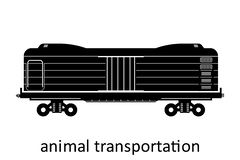 railway carriage of animal transportation with name. Cargo Freight Forwarding Transport. Vector illustration Side View Isolated royalty free illustration