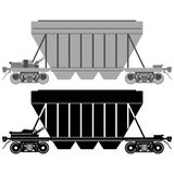 Railway carriage for bulk cargo-1 Stock Image