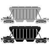 Railway carriage for bulk cargo Stock Images