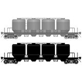 Railway carriage for bulk cargo-3 Royalty Free Stock Photo