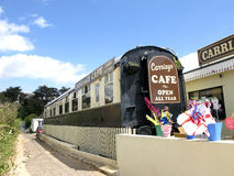 Railway Carriage cafe, Exmouth, Devon. Stock Photos