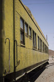 Railway carriage. Detail with vanishing point Royalty Free Stock Image