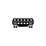 Railway carriage solid icon, navigation vector illustration