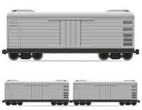 Railway carriage train vector illustration. On white background Stock Photos
