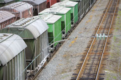 Railway cars Royalty Free Stock Photography