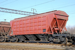 Railway cars for various cargoes Stock Images