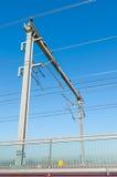 Railway catenary Stock Photography
