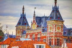 Railway central station Amsterdam Stock Image