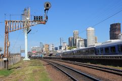 Railway by the central station in Buenos Aires. Stock Photos