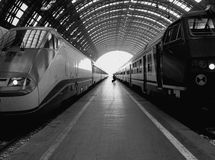 Railway Central Station, Milan Royalty Free Stock Photos