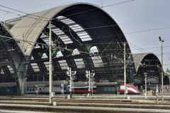 Railway central station, Milan Stock Photography