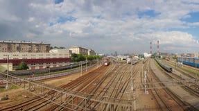 Railway in city Stock Image