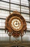 Railway Clock. Large ornate railway clock in Musee d'Orsay in Paris Stock Image