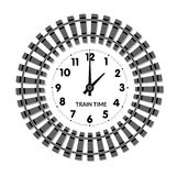 Railway clocks vector illustration Royalty Free Stock Images