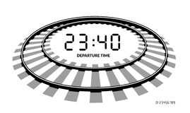 Railway clocks vector illustration Royalty Free Stock Photo