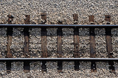 Railway closeup Royalty Free Stock Photos