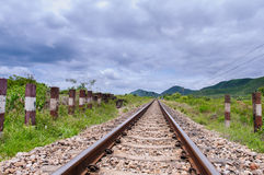 Railway. In the cloudy season Royalty Free Stock Images